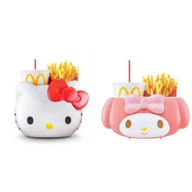 McDonalds HELLO KITTY Sanrio CARRIER BASKET MALAYSIA LIMITED EDITION FIGURES NEW