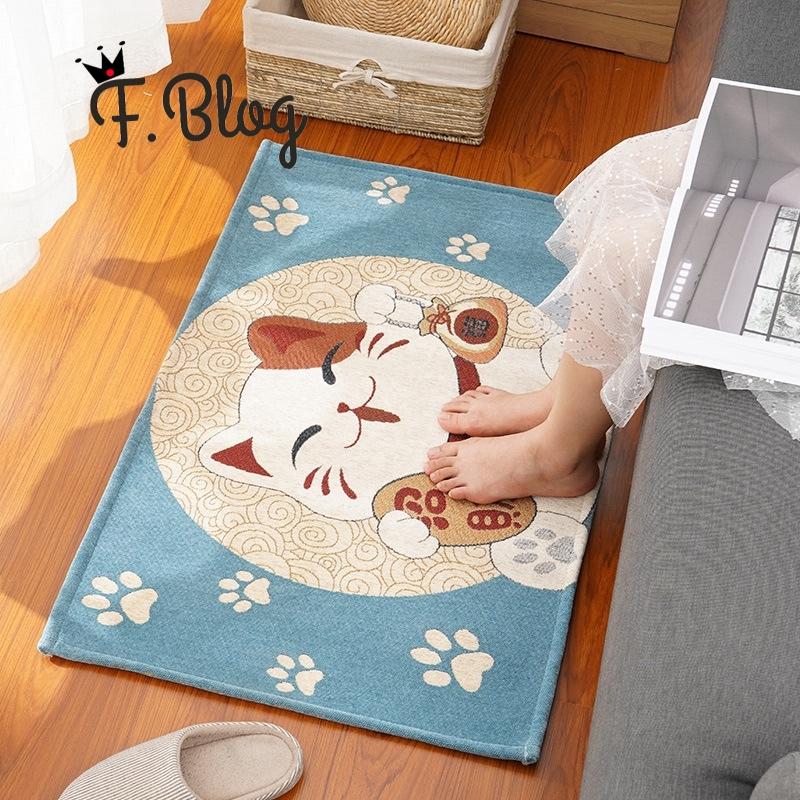 Chinese Style Good Luck Feng Shui Mat Carpet Bath Mat Plush Non-Slip Mat Decor