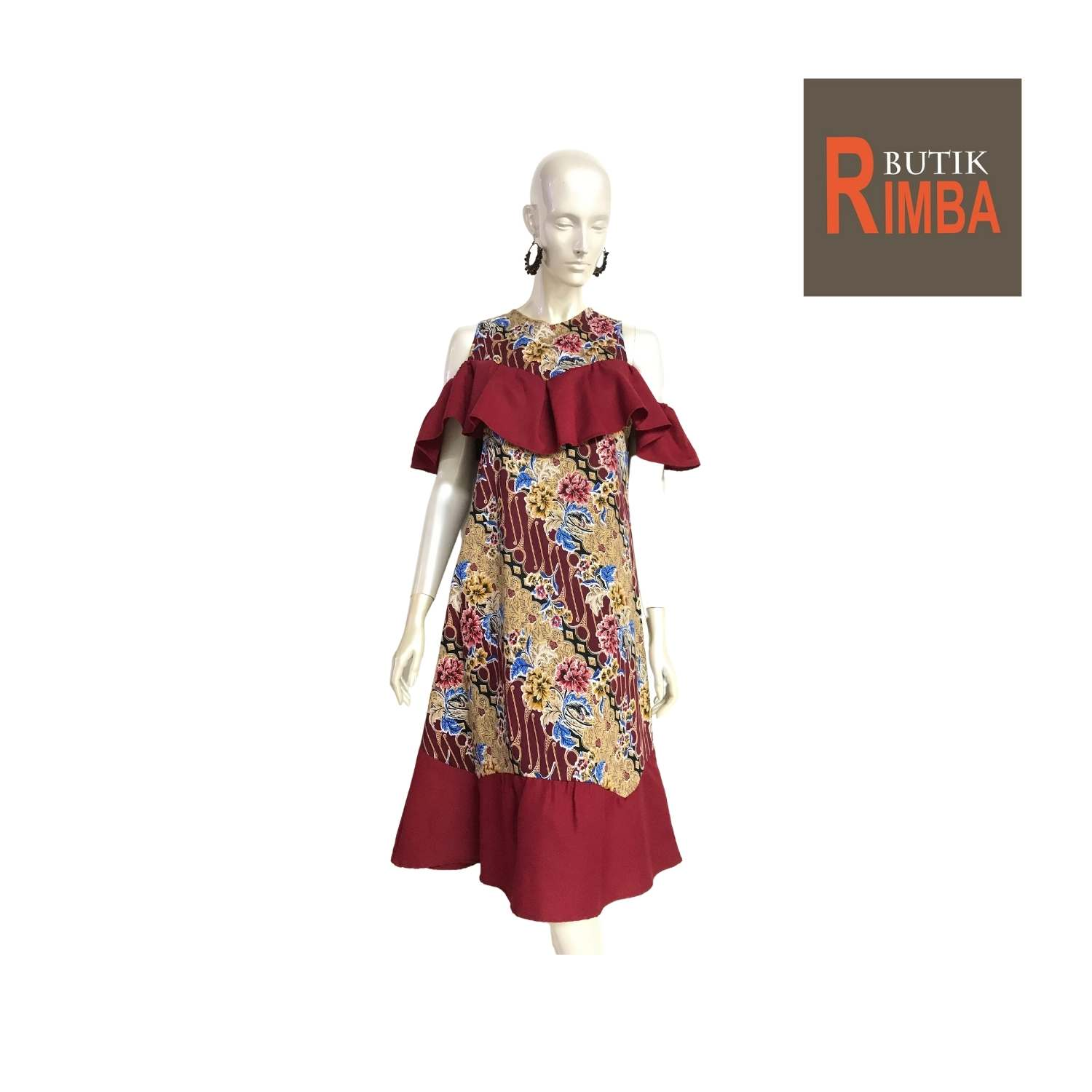 MODERN DRESS BATIK COTTON STRETCHABLE KNEE LENGTH FREE SIZE FOR FASHIONABLE WOMEN IN MIND 13