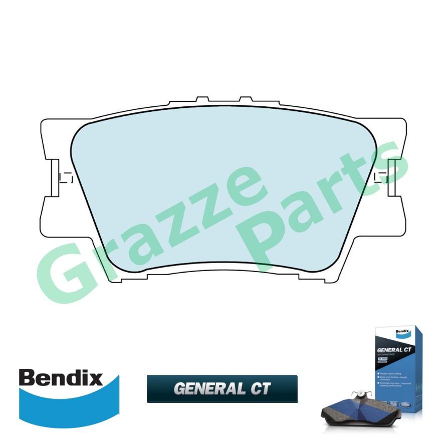 Bendix General CT Disc Brake Pad Rear for DB1832 - Toyota Camry ACV40 ACV50