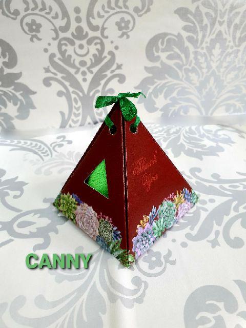 🎁 [1pcs 58sen!! ] 20pcs Doorgift Pyramid Corak Rose Dengan Towel 🎁