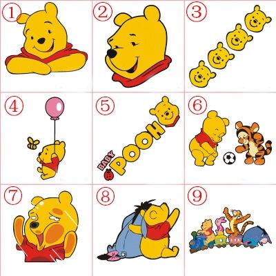 Winnie The Pooh Vinyl Car Laptop Decal Sticker Disney Baby Cute Hunny Window