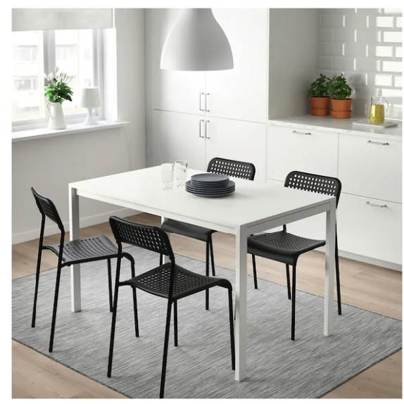 Original Melltorp Adde Table And 4