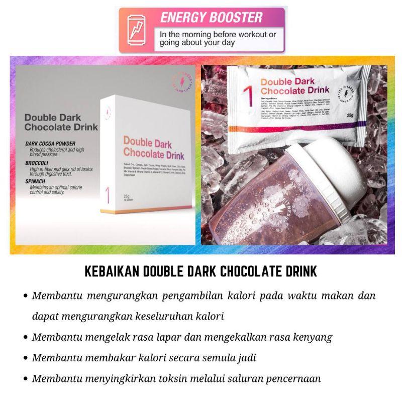 Double Dark Chocolate Drinks(ddcd) + 🎁Freegift - 10 Sachet by Jamu Tun Teja