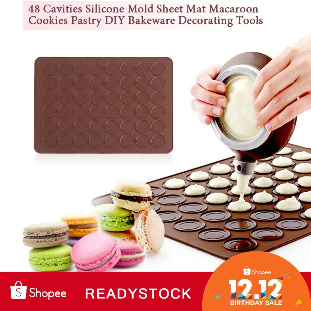 Silicone Macarons Macaroon Pastry Baking Mould Sheet Mat 30-Cavity Mold Bakeware | Shopee Malaysia