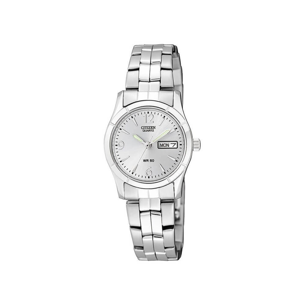 Citizen Womens Quartz Silver Tone Watch With Day Date Display Eq0540 57a Ep6050 17e Promaster Eco Drive Ladies