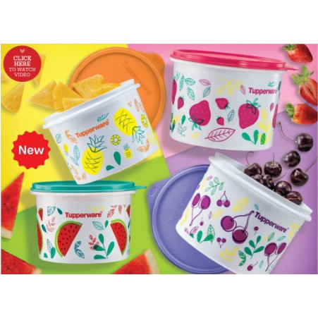 Tupperware Fruity Canister Set(1.1L or 1.7L)1pc only