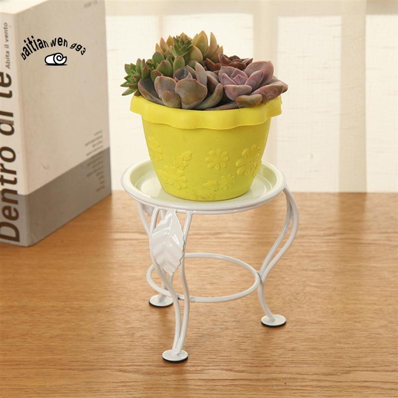 Iron Small Flower Plants Stand Outdoor Indoor Succulent Pot Holder
