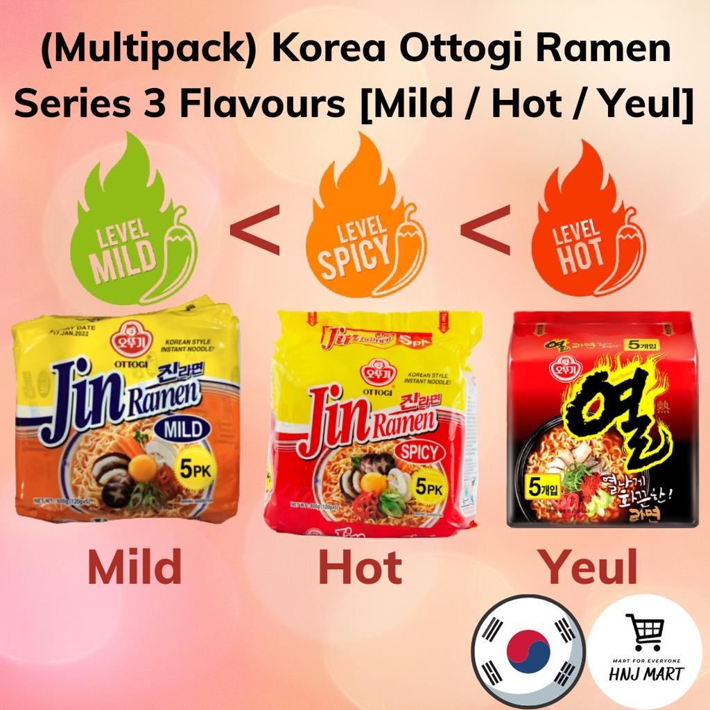 (Multipack) Korea Ottogi Ramen Series 3 Flavours [Mild / Hot / Yeul] Ottogi Jin Ramen / Ottogi Yeul Ramen