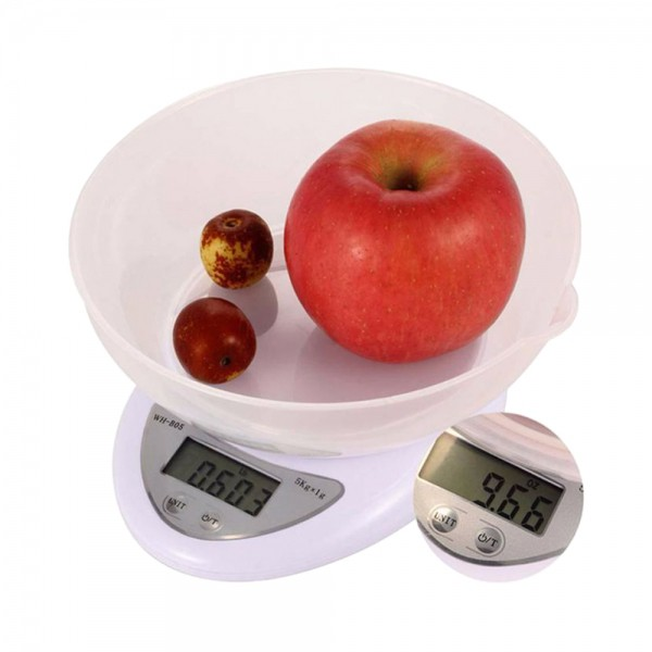 ELECTRONIC KITCHEN SCALE WITH BOWL (5KG/1GM)