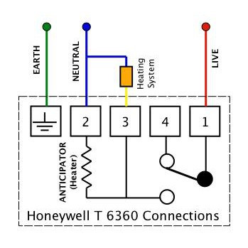 Honeywell Thermostat T6360 Ee, Honeywell T6360 Room Thermostat Wiring Diagram