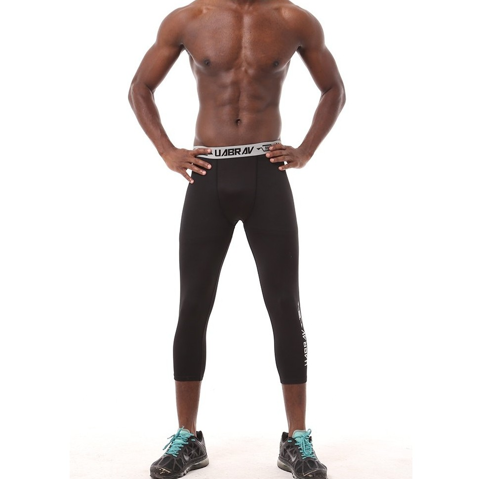 22d3ef6c3a2b9 FMD Elastic Men Compression Sport Pants Quick Dry Running Tight Leggings  Trousers   Shopee Malaysia