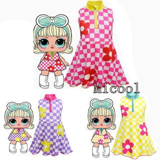 Kids Girls Lol Surprise Dolls Party Dress Princess Halloween Costumes Cosplay