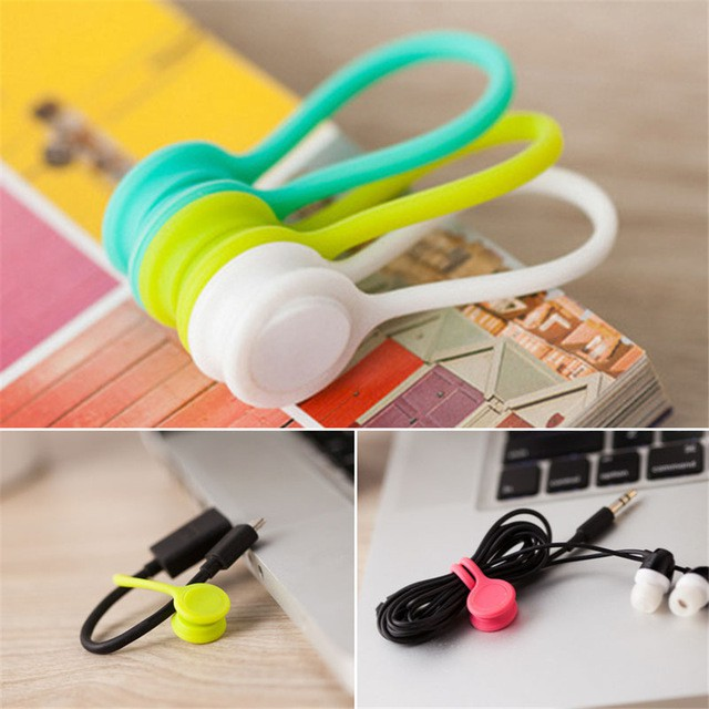 4x cable winder silicone cable organizer wire wrapped cord line storage holderSP