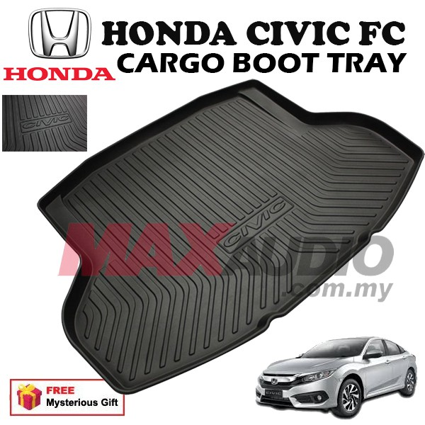 [FREE Gift] HONDA CIVIC FC 2016 - 2019 ABS RUBBER NON SLIP REAR TRUNK BOOT CARGO TRAY
