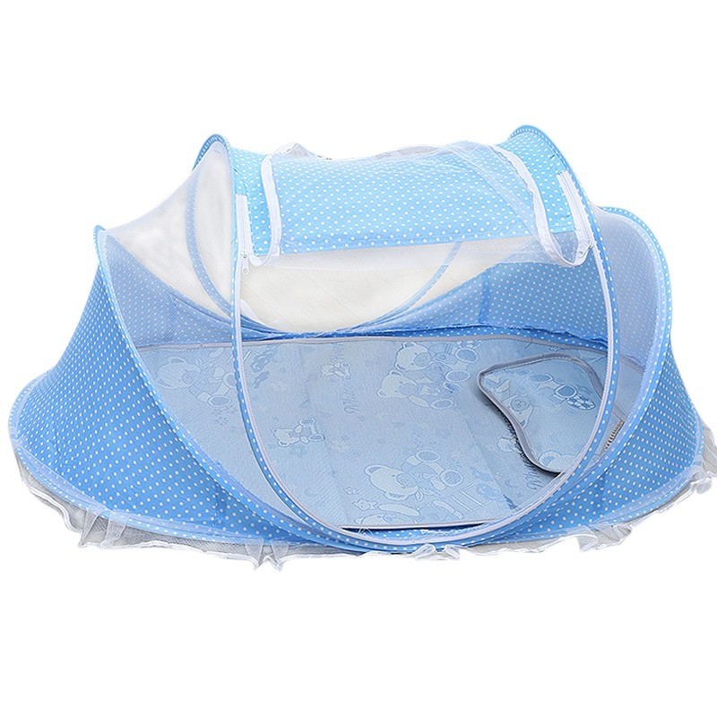 Newborn Baby Mosquito Net Polyester Cotton Folded Single