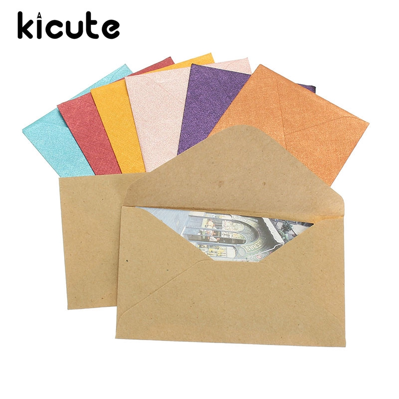 Retro Design Small Colored Mini Paper Envelopes Party Invitation