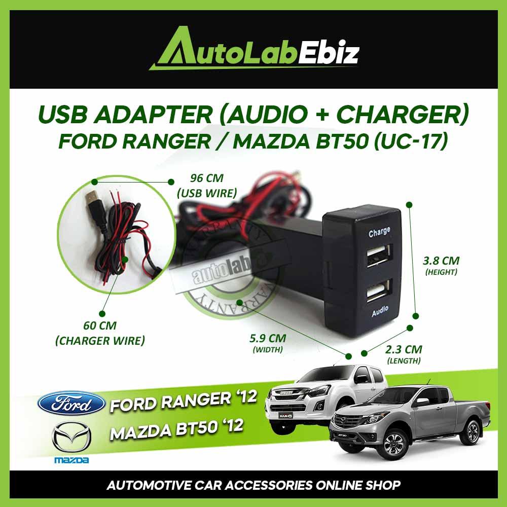 OEM USB Ford Ranger / Mazda BT50 2012-Onward for Audio + Charger【UC-17】