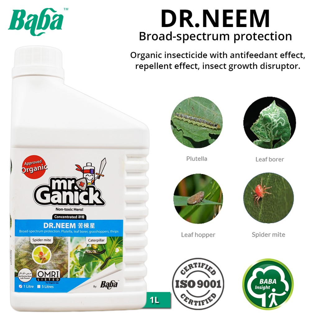 Baba Mr Ganick Dr. Neem Natural Pesticide Ready To Use 1L