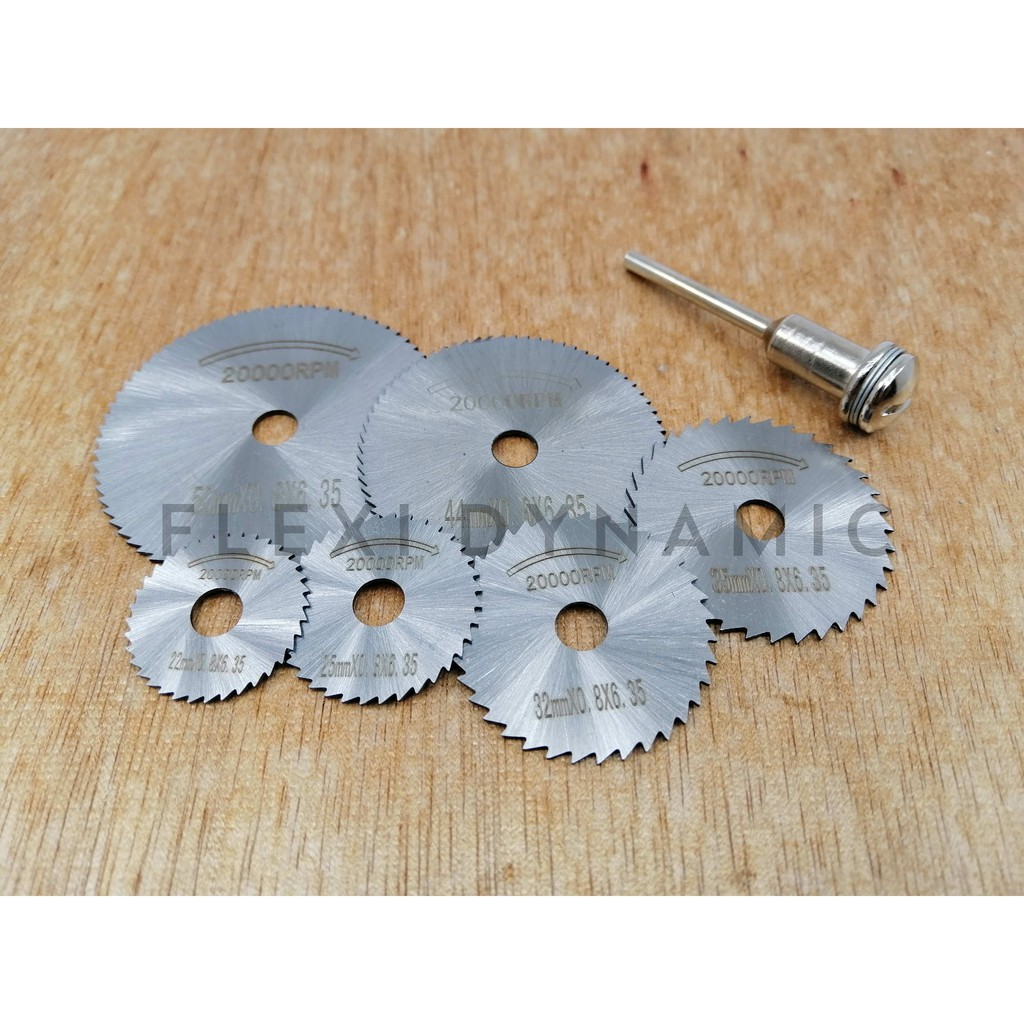 (Local Seller) 7Psc Stainless steel Mini Saw Blade 20000RPM Handle High speed Ultra Thin Small Rotary Tool