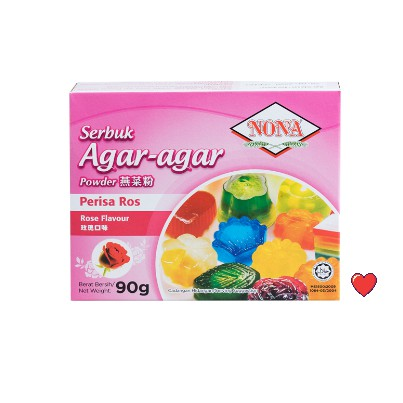 NONA Serbuk Agar-Agar Powder - Perisa Ros @ 90g ( Free Fragile + Bubblewrap Packing )