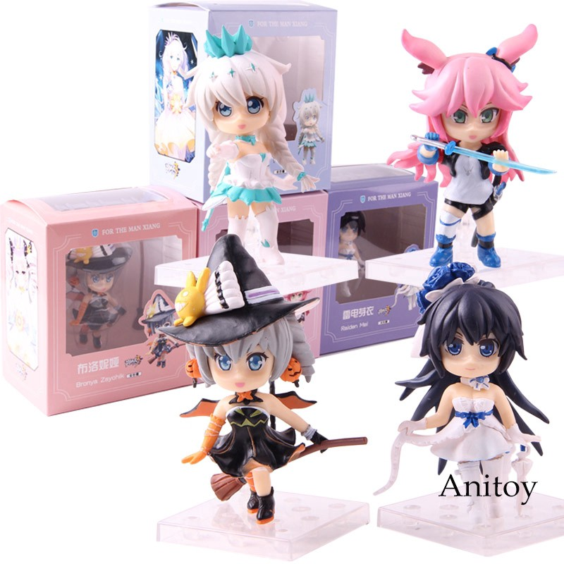 """2pcs//set Honkai Impact 3 Yae Sakura /& Bronya Zaychik Figure 4/"""" Toy"""