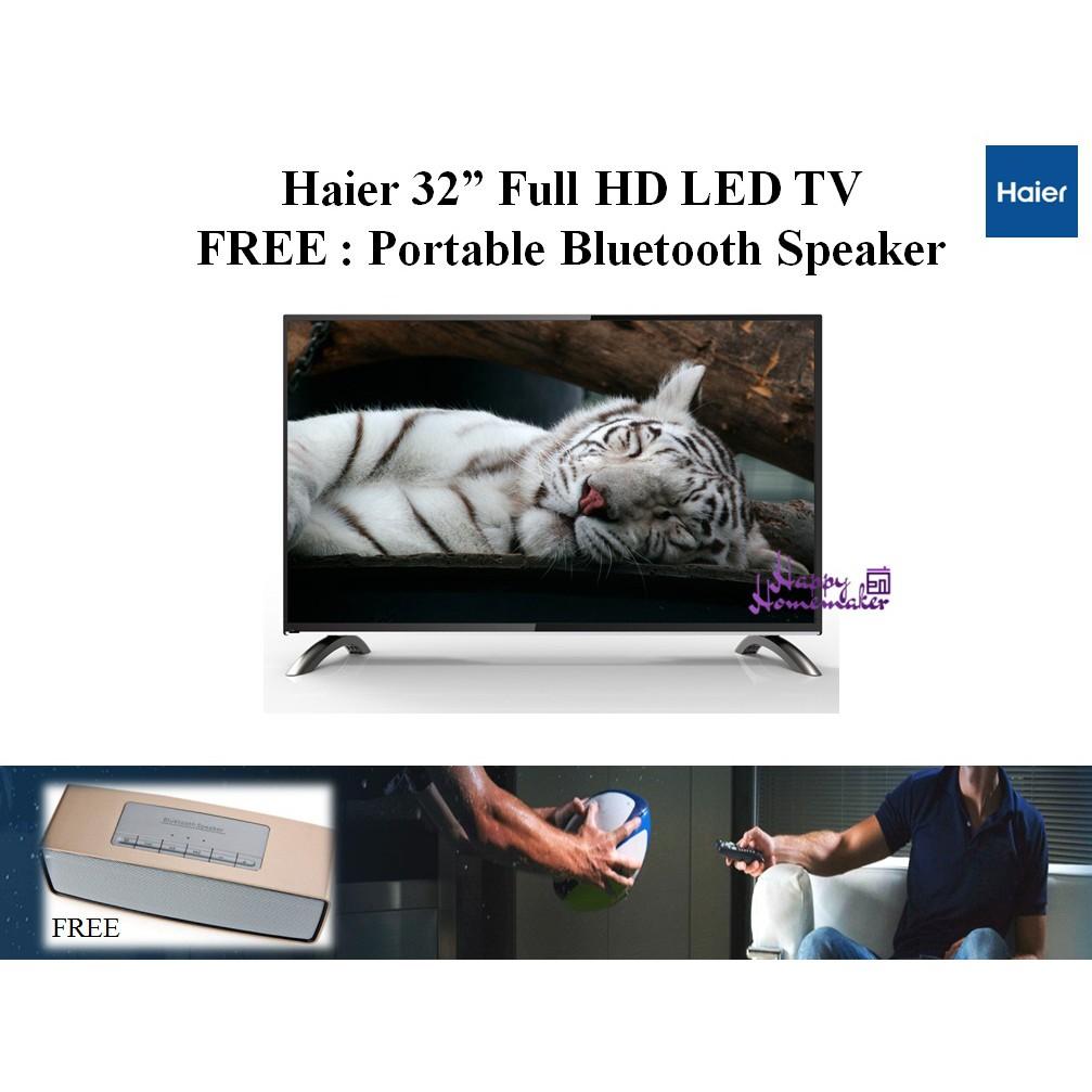 """Haier 32"""" Full HD Led TV (Free Portable Speaker)"""