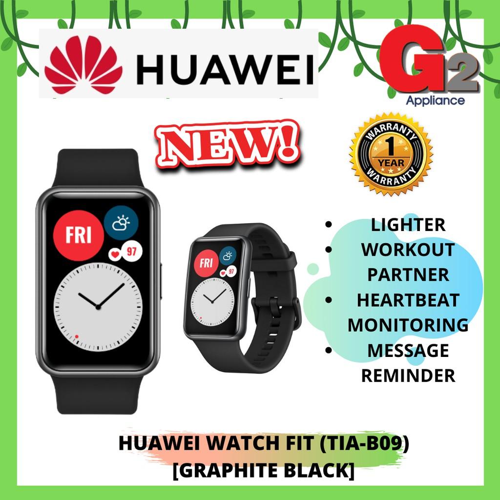 HUAWEI WATCH FIT (TIA-B09) GRAPHITE BLACK - ORIGINAL HUAWEI WARRANTY