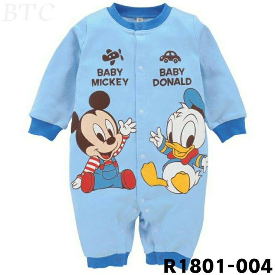 2367d9d978c12 Newborn baby romper cotton disney cartoon mickey minnie winnie unisex boys  girls