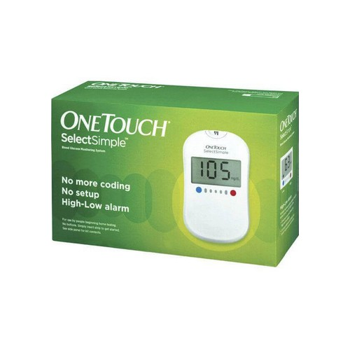 One Touch Select Simple Glucometer 25 test strips + 25 lancets + 25 alcohol swab + 1 lancing device