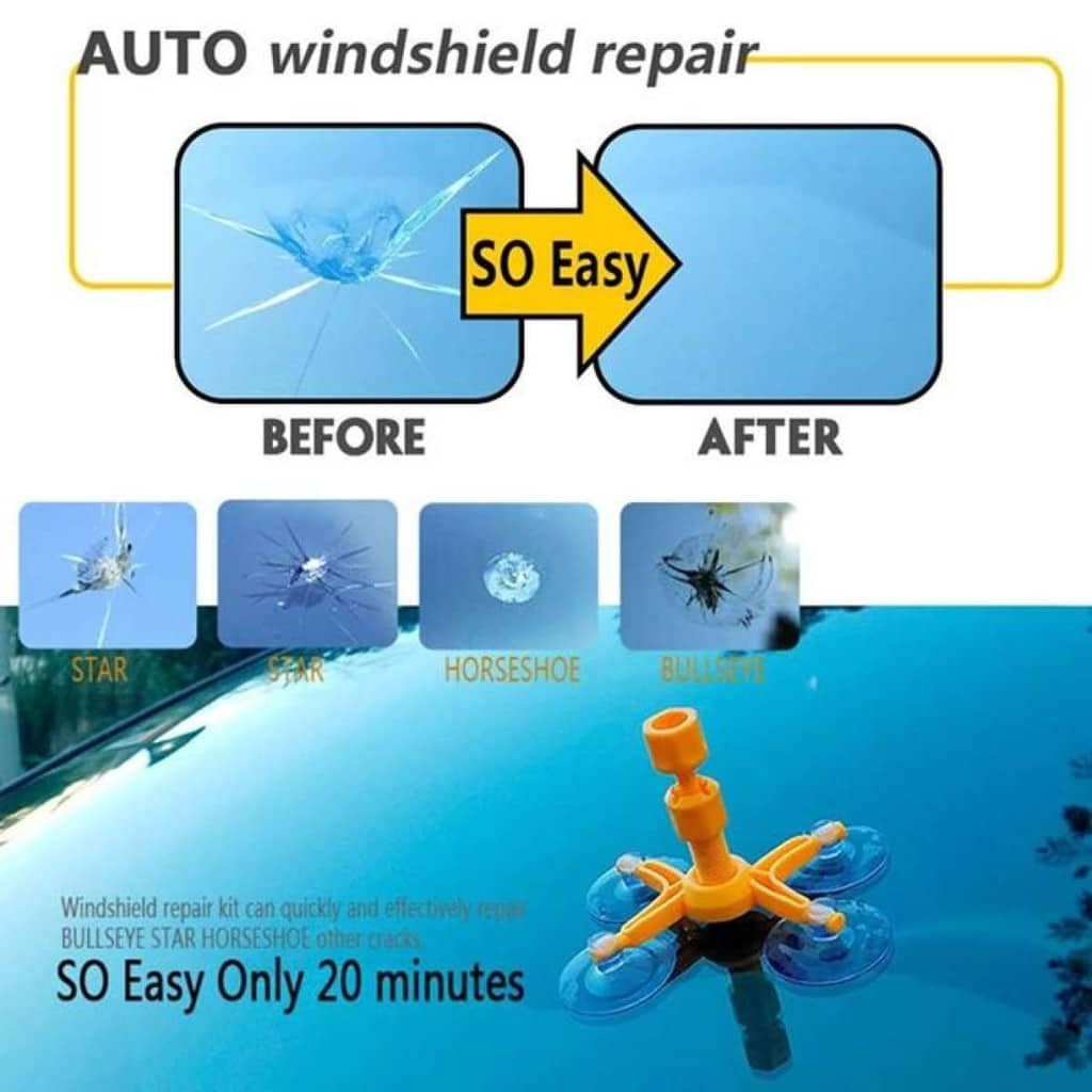 Window Glass Crack Chip Windscreen Windshield Repair DIY Tool Kit Set New Car