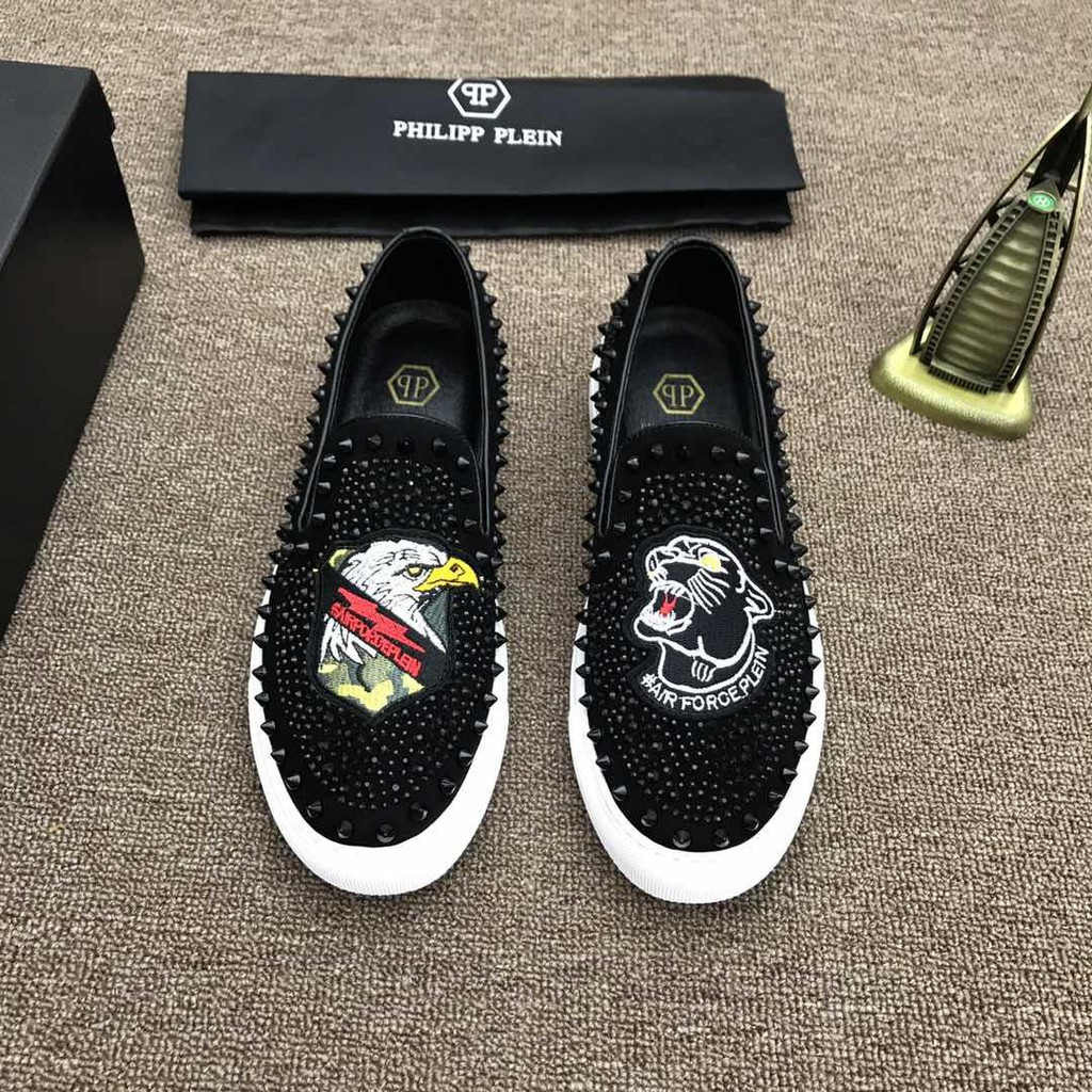 1175543555 original Philipp Plein casual sneakers skate shoes low top slip on men shoes  | Shopee Malaysia