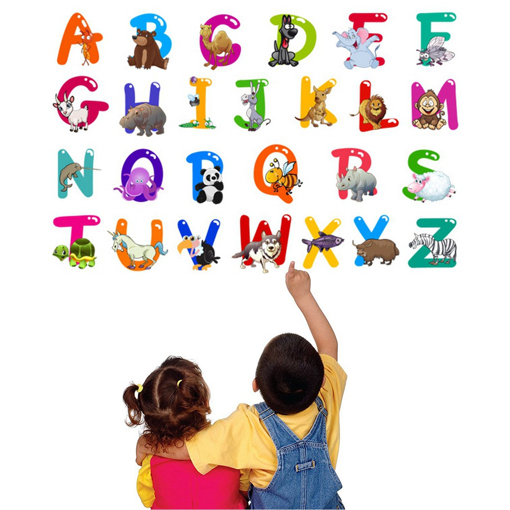 Animal Alphabet Wall Decals Wall Stickers For Nursery And Kids Rooms Wall Decor