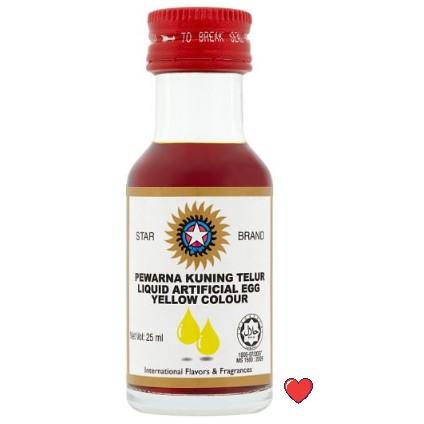 Star Brand Liquid Artificial Egg Yellow Colour / Pewarna Kunign Telur @ 25ml ( Free fragile + bubblewrap packing )