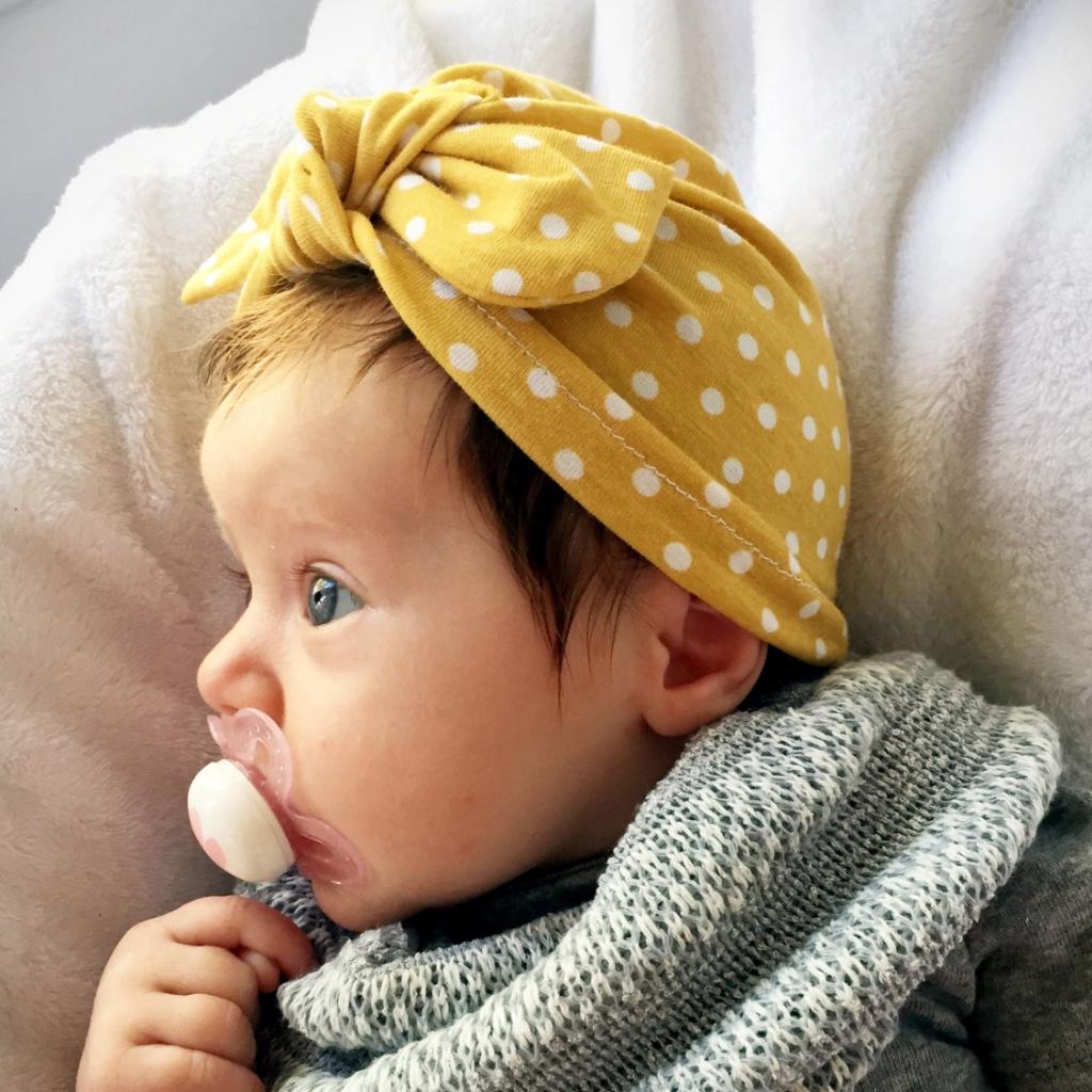 cfe138bd030136 New baby cotton headgear rabbit ear knot dot Indian headgear ...