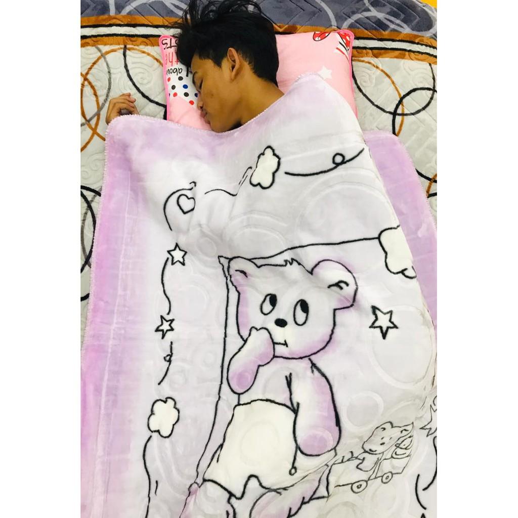 Selimut Baby New born Super Soft Lebar baby Blanket (Sleeping Bear)