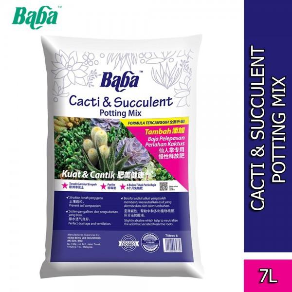 Baba Smart Grow Cacti & Succulent Potting Mix Soil 7L