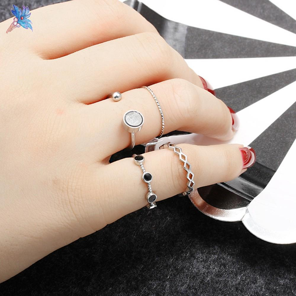 Fashion 5/7/10pcs Women Knuckle Midi Mid Finger Tip Stacking Ring Jewelry Hot Fashion Jewellery