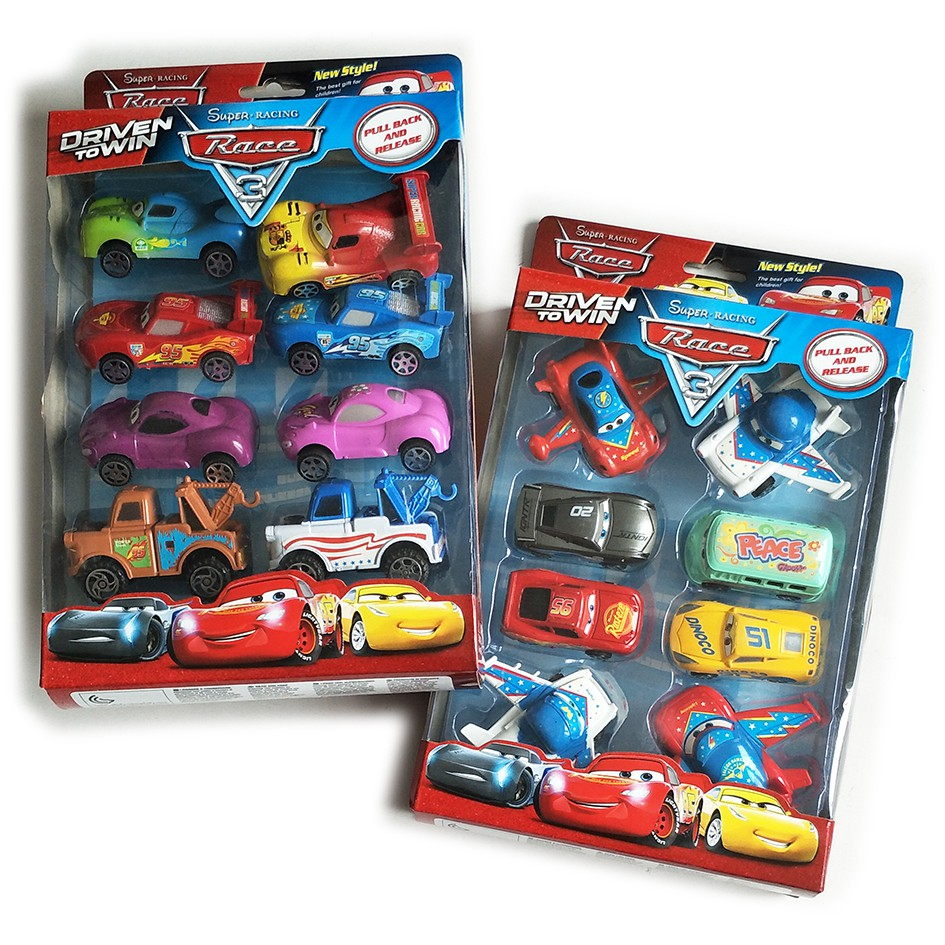 Pixar Cars 2 Multi Cars Gift Set Boy Car Toy Shopee Malaysia