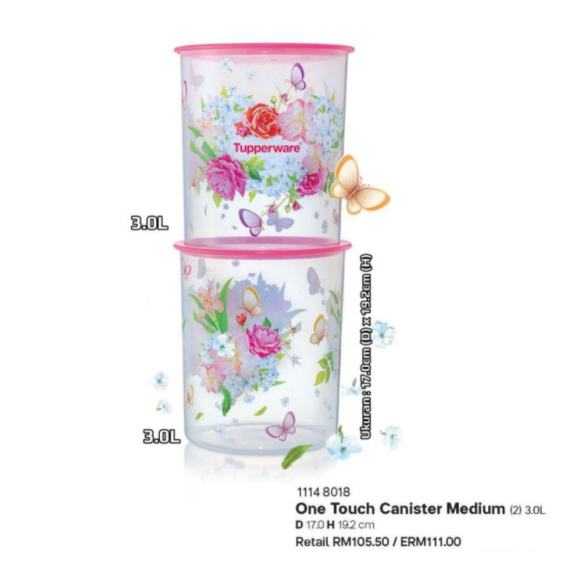 [HOT ITEMS] Tupperware One Touch  Spring Canister   3.0L