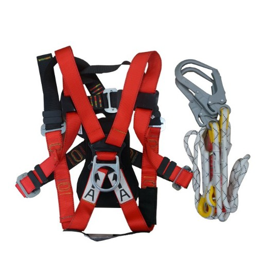 BST Full Body Harness TE6114-1 With Double Rope Lanyard and Absorber (With Cert)