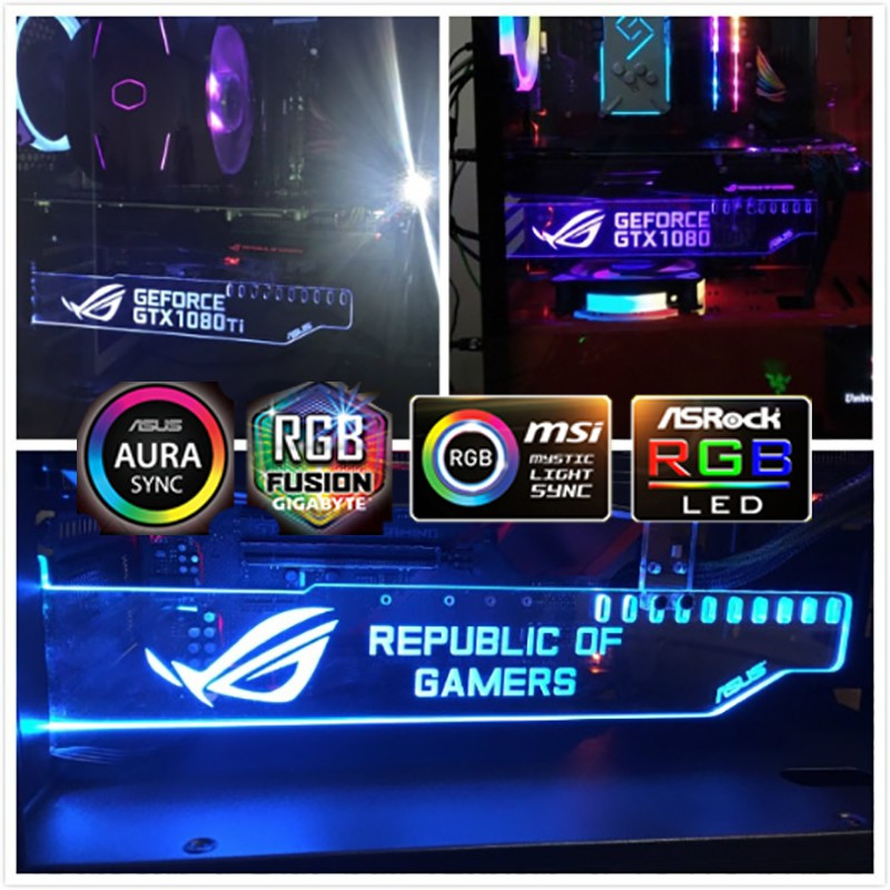 Rgb Remote Multicolor ROG ASUS Republic of Gamers Graphics Card Holder  support