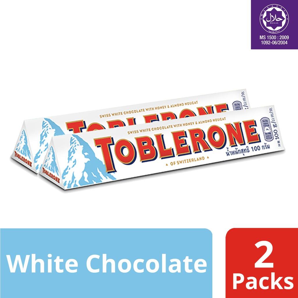 Toblerone Swiss White Chocolate 100g X 2