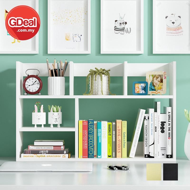 GDeal Student Bookcase Desktop Study Table Free Combination Bookshelf Rak Buku (HY-001) رق بوكو