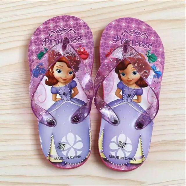 รองเท้าแตะเด็กผู้หญิงลายเจ้