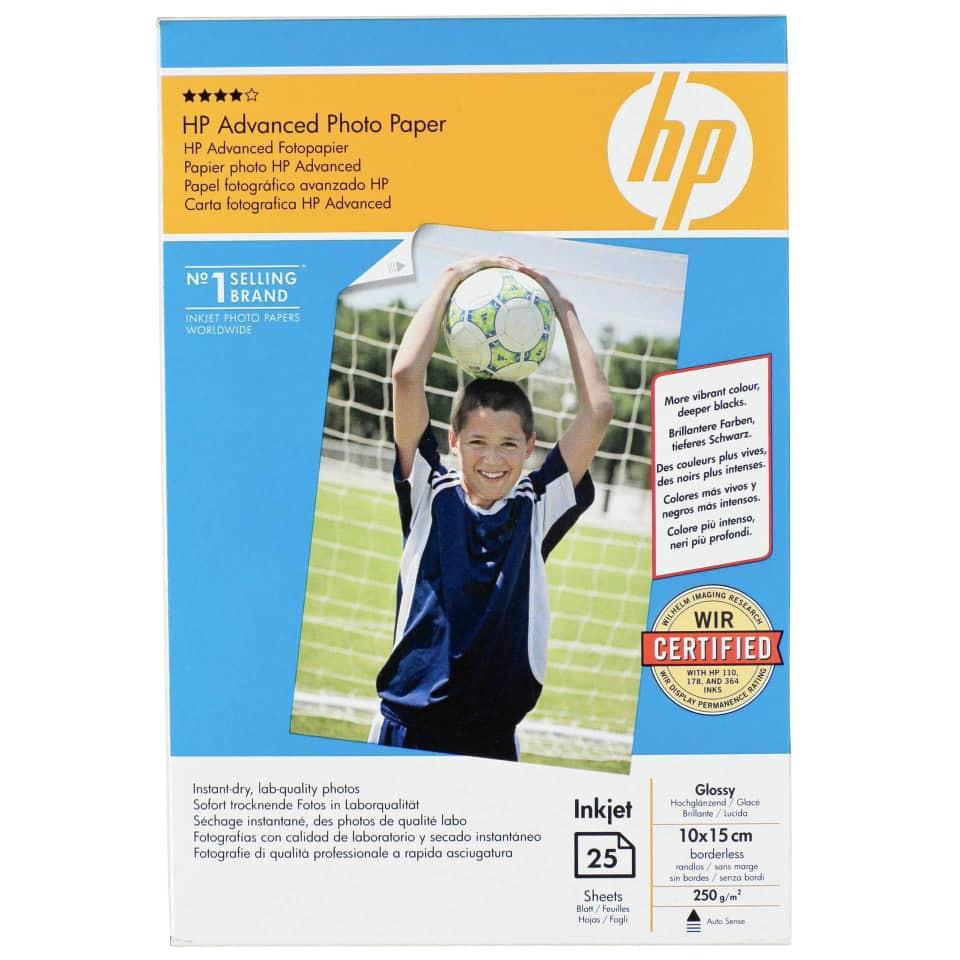 HP Advanced Photo Paper Glossy 25 sheets 4R Size Q8691A Original Genuine