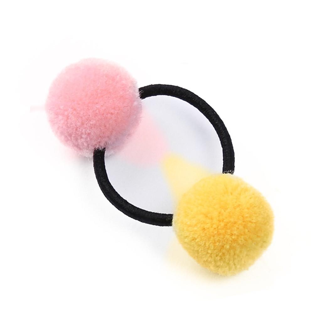 Kids Baby Elastic Hairband Hair Clip Pom Pom Fur Ball Hair Accessories 1pc uk
