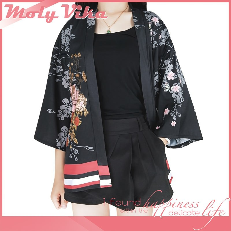 a3db739aff1f31 ProductImage. ProductImage. Women Japanese Kimono Cardigan Beauty Ladies  Yukata Casual Jackets ...