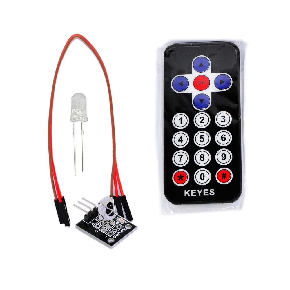 Keyestudio 38KHz Infrared IR Wireless Remote Control Module Kits for Arduino