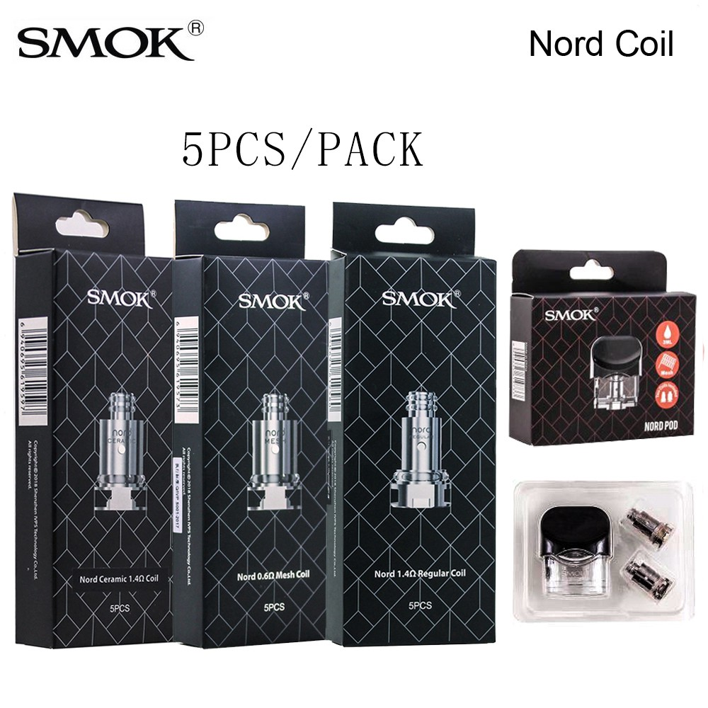 For SMOK NORD 5PCS Replacement Coil Mesh 0 6/1 4 OHM Regular Nord OCC